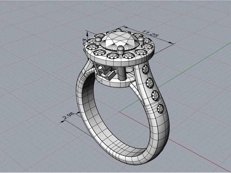 3D-tegning af smykker